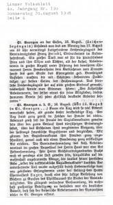Zeitungsbericht 20.08.1908